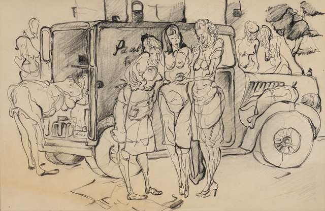 , 'Women and Produce Truck,' 1946, Andy Warhol Museum