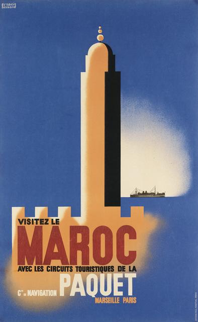 Francis Bernard, 'VISITEZ LE MAROC', Circa 1933, Swann Auction Galleries