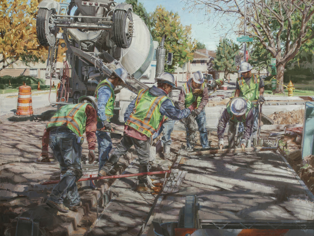 , 'Eight Men Working,' 2014, Gallery 1261