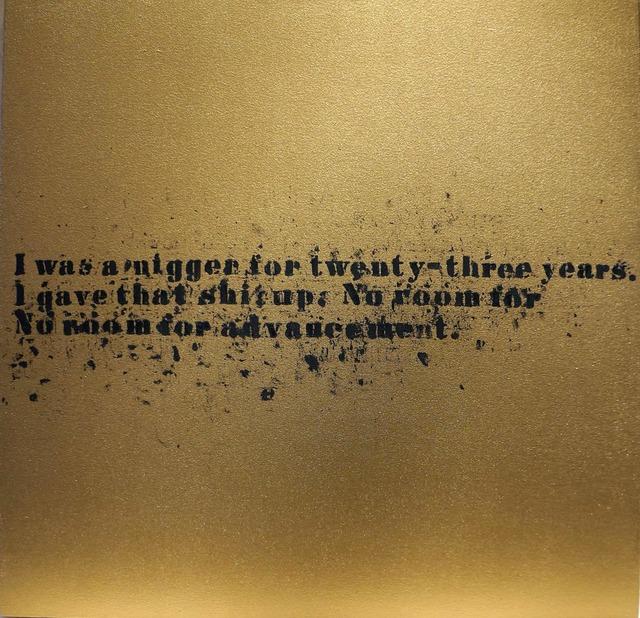 , 'No Room (Gold) #25,' 2007, Vivian Horan Fine Art