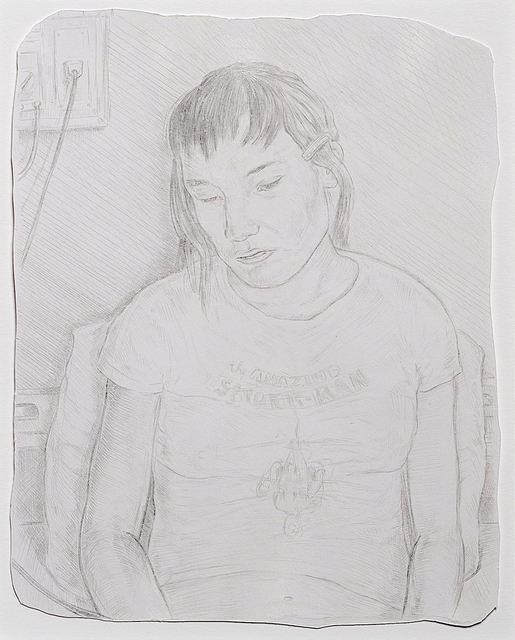 Tyler Bright Hilton, 'The Patient', 2011, Drawing, Collage or other Work on Paper, Silverpoint on prepared paper, VIVIANEART