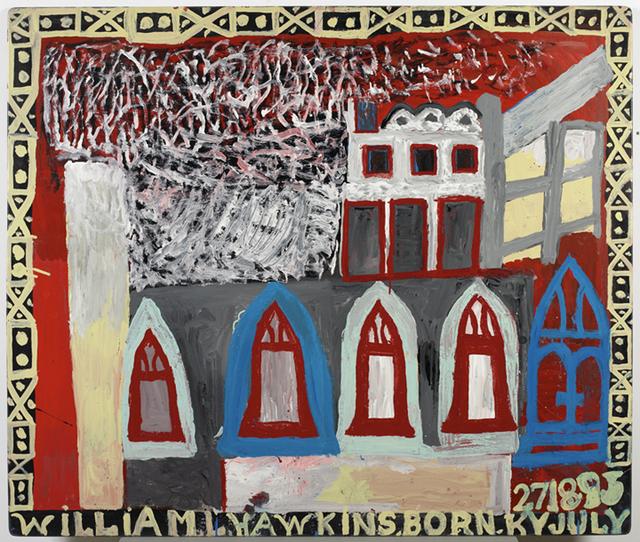 William Hawkins, 'INTERIOR WITH ARCHED WINDOWS', 1989, Ricco/Maresca Gallery