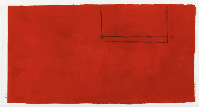 , 'Red Open with White Line,' 1979, Mary Ryan Gallery, Inc