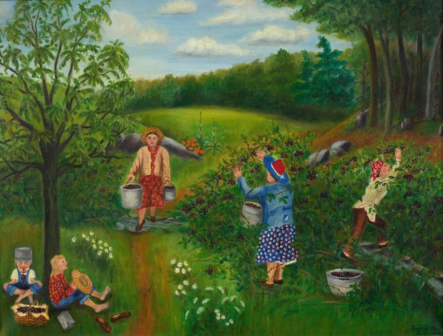 Queena Stovall, 'Blackberry Picking', 1950, Debra Force Fine Art