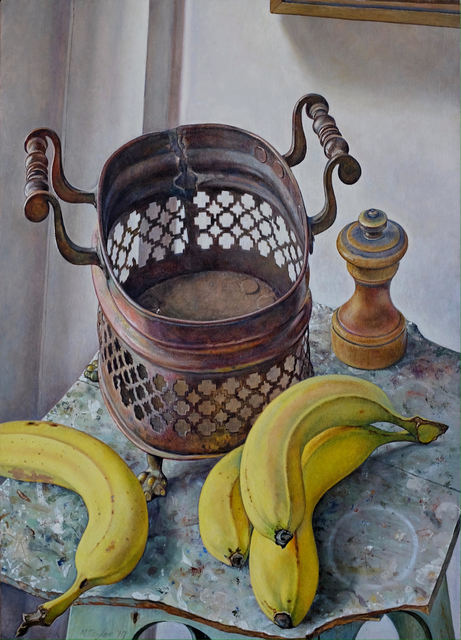 Michael Taylor (b. 1952), 'Copper Basket with Fruit', 2019, Painting, Oil on canvas, Waterhouse & Dodd