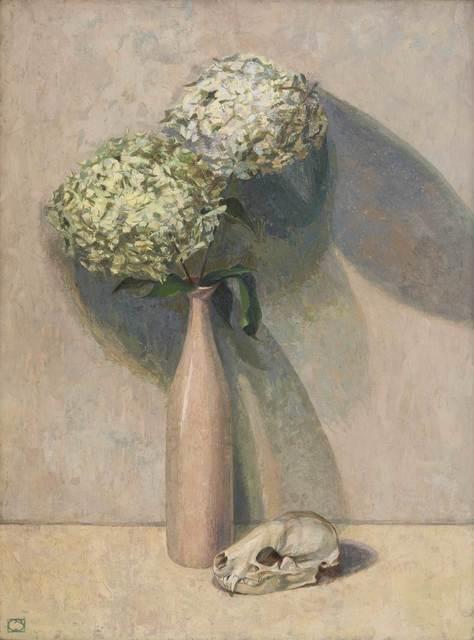 , 'Hydrangeas and Badger Skull,' , Mall Galleries