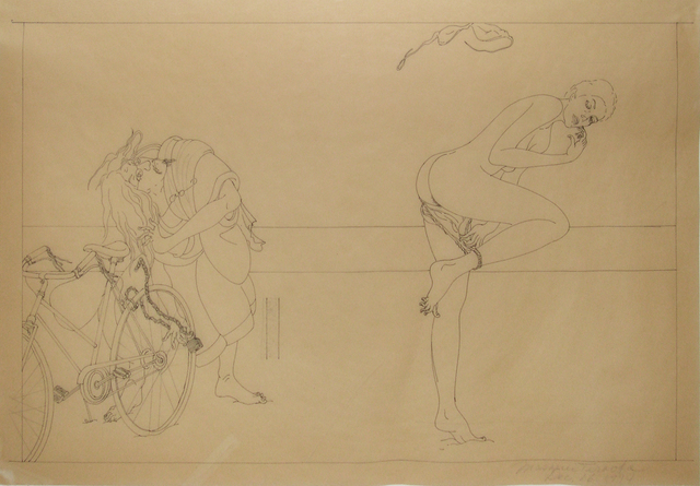 , 'Venice Nude Beach/Study for Woman and Bicycle,' 1974, Catharine Clark Gallery