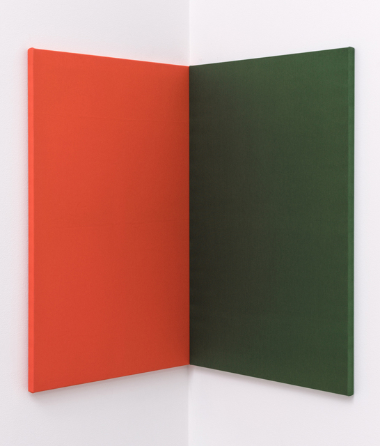 , 'Fabric Painting (orange/green corner),' 2015, David Kordansky Gallery