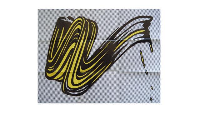", '""Brush Stroke"", Castelli Invite/ Poster,' 1965, VINCE fine arts/ephemera"