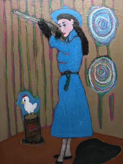 Morrison Pierce, 'Guns, Chicken, Liquor for Sale', 2020, Painting, Acrylic on panel, The Secret Gallery
