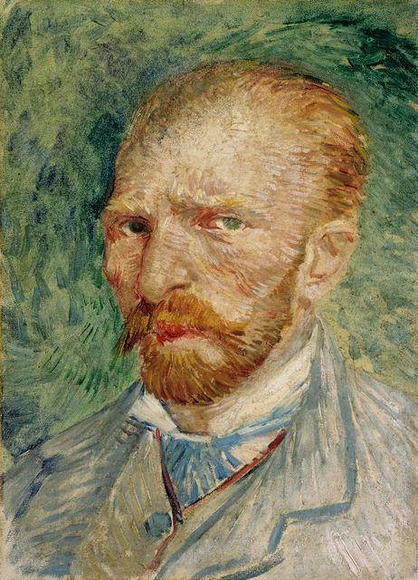 Vincent van Gogh, 'Self-portrait', 1887, Painting, Oil on cardboard, Kröller-Müller Museum