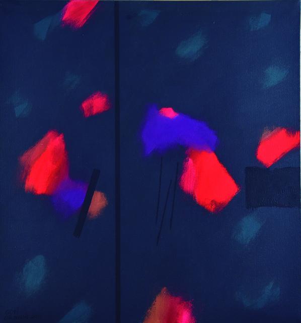 Gopi Gajwani, 'Blooms in Red & Purple ', 2015, Arushi Arts