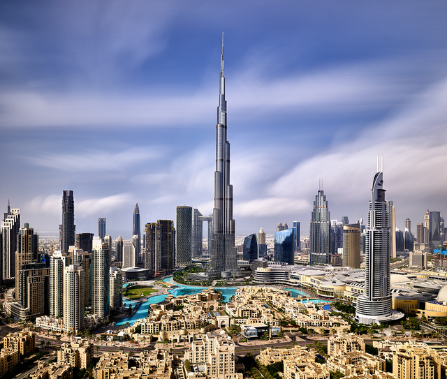 Andrew Prokos, 'Burj Khalifa and Downtown Dubai - Long-Exposure', 2020, Photography, Archival Pigment Print, Andrew Prokos Fine Art Photography