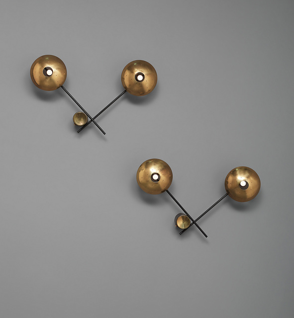 Stilnovo, 'Pair of wall lights', circa 1950, Phillips