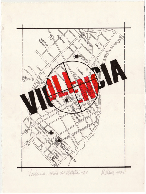 , 'Violencia, toma del batallón 121,' 1972, Document Art