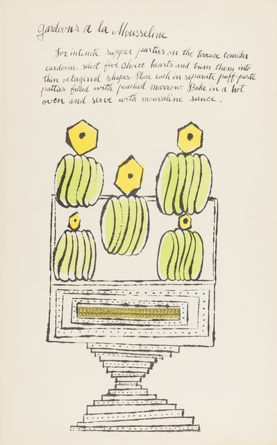 Andy Warhol, 'Gardoons à la Mousseline (from Wild Raspberries) (see Feldman & Schellmann IV.140.A)', 1959, Forum Auctions
