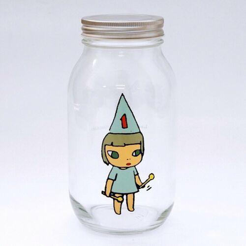 Yoshitomo Nara, 'Girl Storage Jar (900ml, Blue)', ca. 2017, Lex Art Gallery
