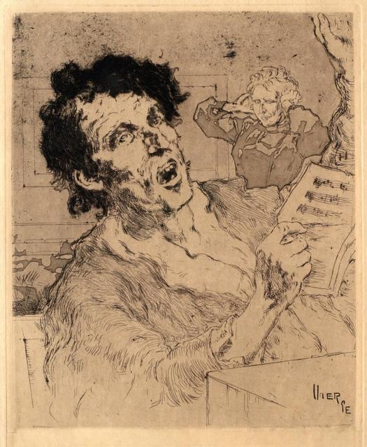 Daniel Vierge, 'A False Note', 1895, Clark Art Institute
