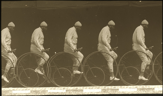 Étienne-Jules Marey, 'Chronophotograph of a Man on a Bicycle', ca. 1885/1890, National Gallery of Art, Washington, D.C.