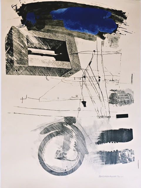 Robert Rauschenberg, 'Test Stone #6 (Blue Cloud) from the Booster and 7 Studies Series (Foster, 45, G:33)', 1967, Alpha 137 Gallery