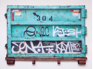 ", '""Dumpster (Green) South Williamsburg"",' 2016, McCaig-Welles"