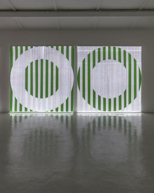 , 'Quand le Textile s'éclaire : Fibres optiques tissées - AA1 vert / Quand le Textile s'éclaire : Fibres optiques tissées - BB1 vert,' 2014, GALLERIA CONTINUA