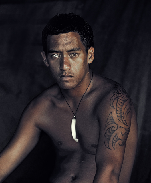 Jimmy Nelson, 'IX 137 Robert Davis Bay of Islands, North Island New Zealand - Maori, New Zealand', 2011, Photography, Chromogenic print, mounted on aluminium in nut wood frames behind museum glass., WILLAS contemporary