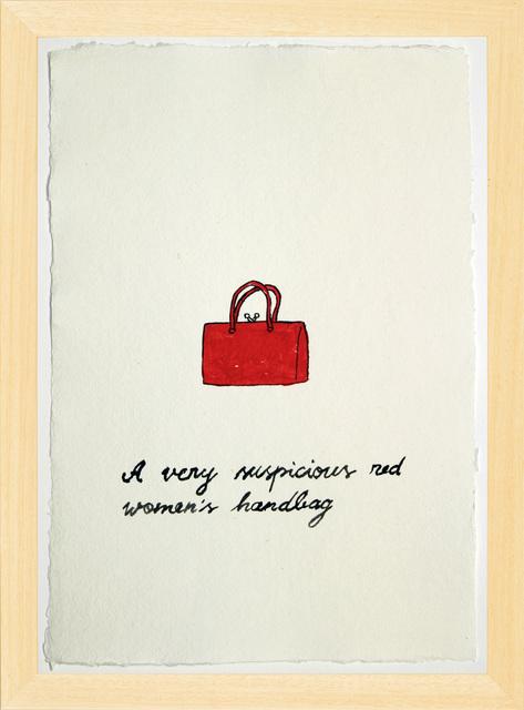 , 'Suspicious Bags: Red Women's Handbag,' 2018, Temnikova & Kasela