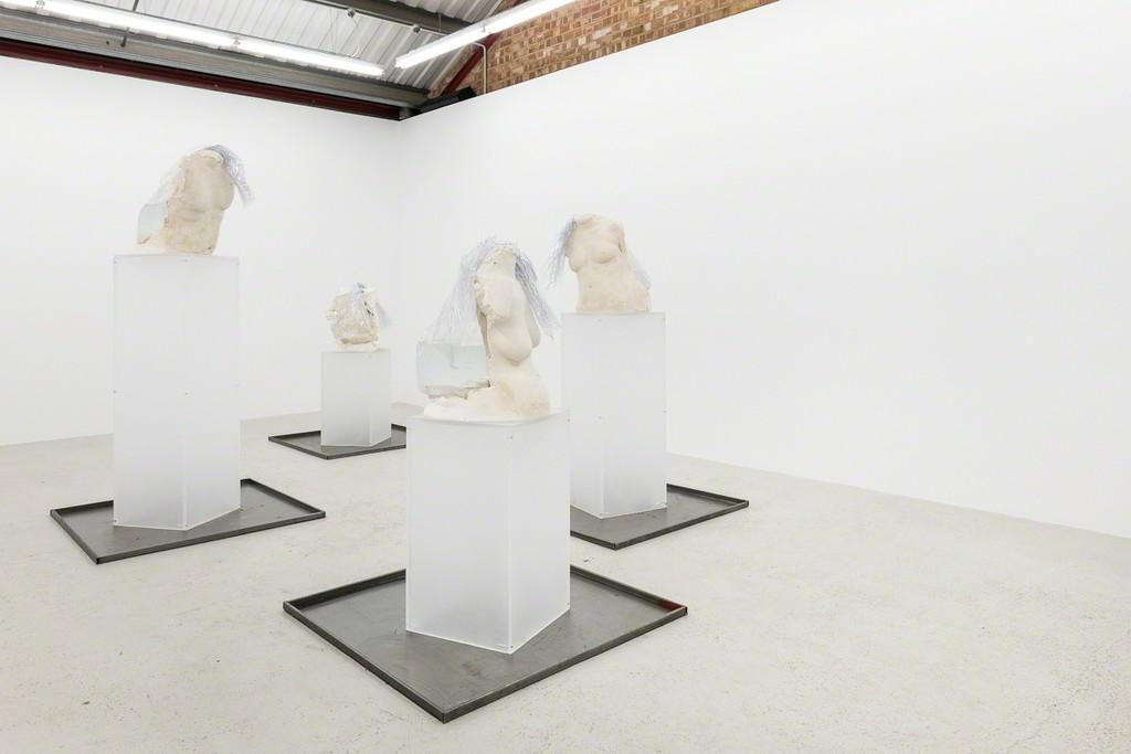 Installation view of Hugo Servanin 'Cacotopia 02' at Annka Kultys Gallery, London 2018. Photo: Annka Kultys Gallery (Damian Griffiths)