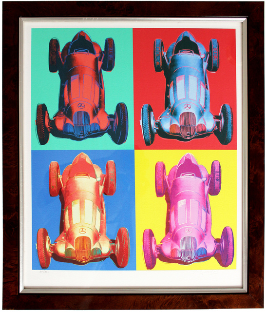 Andy Warhol, 'Mercedes-Benz Rennwagen W 125', ca. 2007, Print, Giclee printed on handmade archival paper, EHC Fine Art Gallery Auction