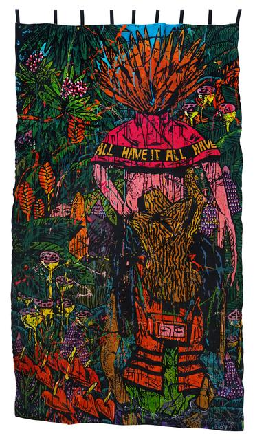 Eko Nugroho, 'Another Coalition #2', 2019, Textile Arts, Embroidered painting, Sullivan+Strumpf