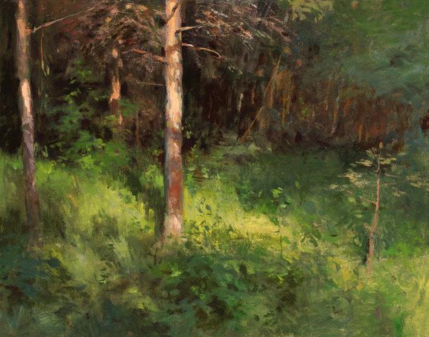 , 'Morning Lit Pine,' 2018, Helena Fox Fine Art