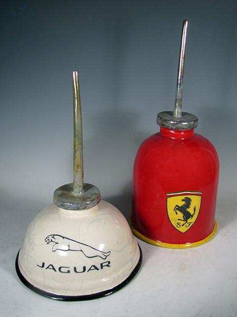 , 'Oil Squirt Cans - Ferrari and Jaguar,' , Winfield Gallery