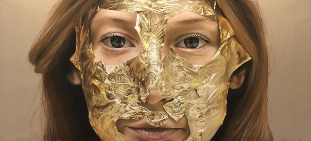 Oliver Jones, 'Gold Lead Face Mask II', 2018, Cynthia Corbett Gallery