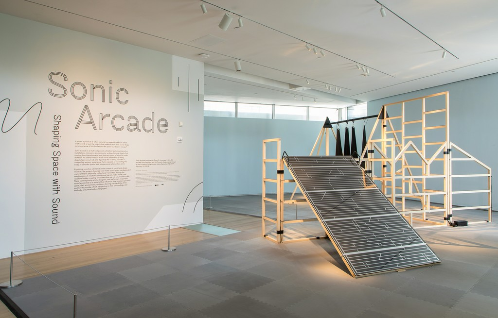Installation view of 'Sonic Arcade: Shaping Space with Sound'