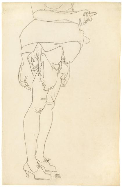 , 'Standing Woman, Study of Legs,' 1913, Galerie Bei Der Albertina Zetter