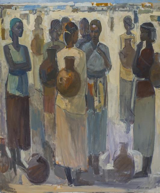 , 'Pillars of Life: Water Bearers,' 2018, Addis Fine Art