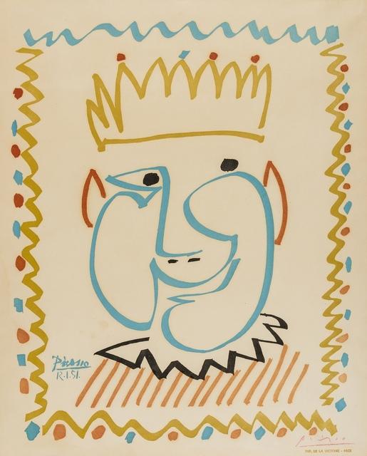 Pablo Picasso, 'Tête de roi', 1951, Forum Auctions