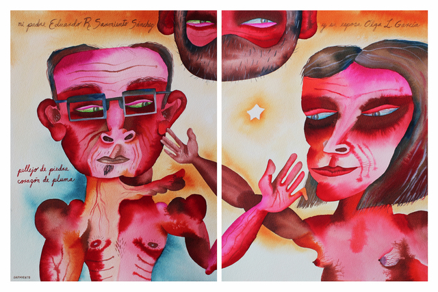 , 'Eduardo Sarmiento Sanchez & Olga L. Garcia - My Father & His Wife,' 2012, Cuban Contemporary