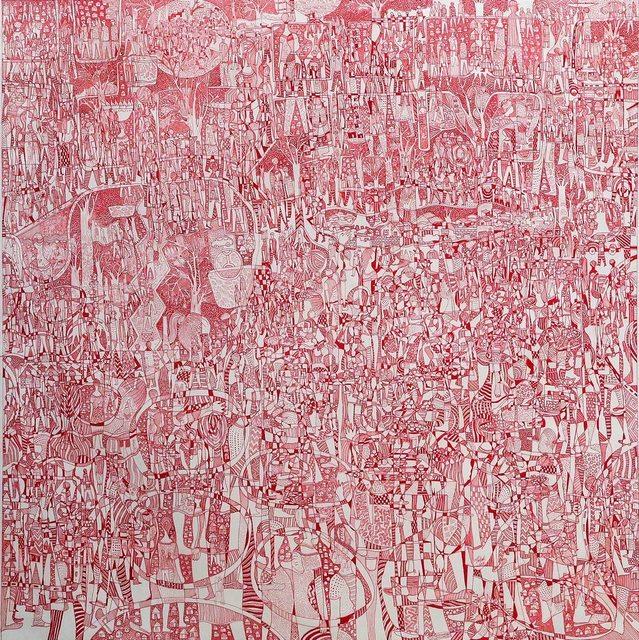 , 'Red Market II,' 2016, Magnin-A