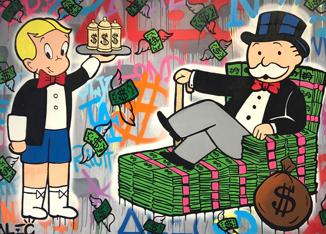 , 'Richie Spray Can and Monopoly,' 2017, Eden Fine Art