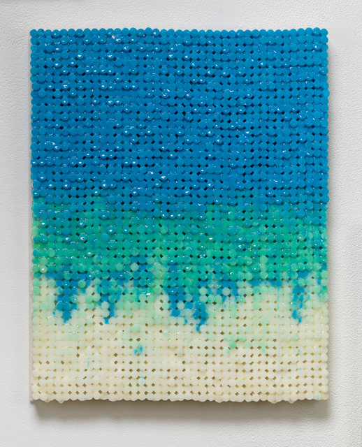 , 'Blue Green Drip,' 2018-2019, Elizabeth Leach Gallery