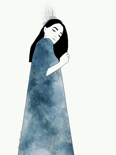 Ramona Russu, 'The girl with black hair/ Mare Nostrum 3', 2019, Artig Gallery