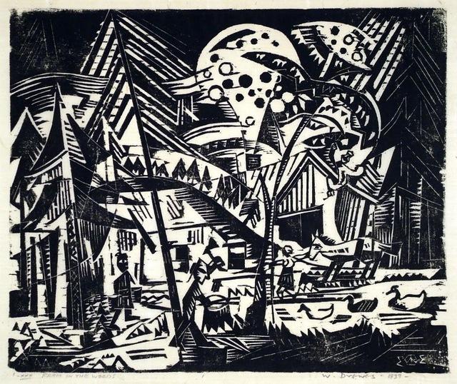 Werner Drewes, 'Farm in the Woods', 1933, Harris Schrank Fine Prints