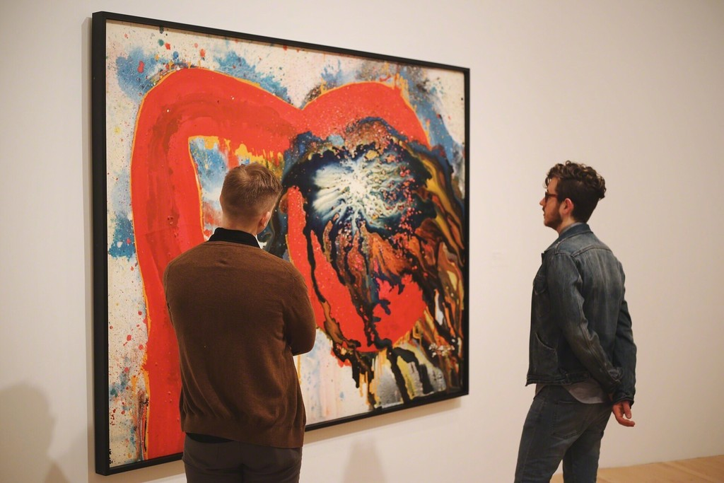 "Installation view of ""Between Action and the Unknown: The Art of Kazuo Shiraga and Sadamasa Motonaga."" Courtesy of Dallas Museum of Art, Dallas (2015)"