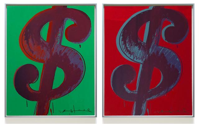 Andy Warhol, 'Pair of Dollar Sign $ (1)  (F. & S. II.274-279)', 1982, Joseph K. Levene Fine Art, Ltd.