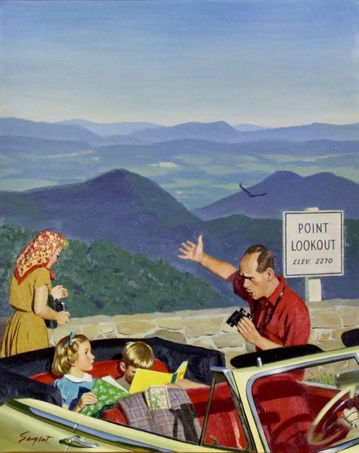 Richard Sargent, 'Lookout Point, Saturday Evening Post Cover', 1953, Painting, Oil on Canvas, The Illustrated Gallery
