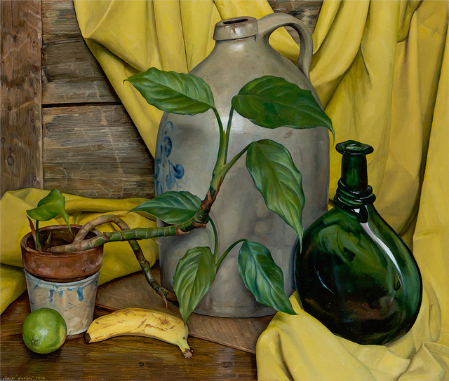 Luigi Lucioni, 'Andante in Yellow and Green', 1975, Questroyal Fine Art