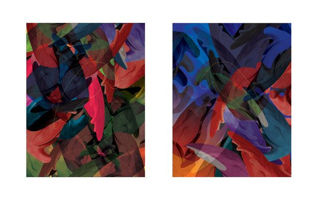 , 'Headless Feathers | Dyptique ,' 2018, Galerie Calderone