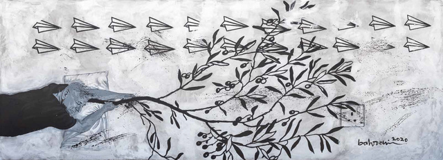 Ahmad Al Bahrani, 'A Dream 1 / 4 حلم', 2020, Painting, Acrylic on Canvas, al markhiya gallery